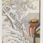 清·冬景图(局部)