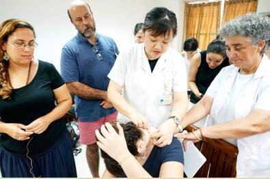 西班牙、阿根廷、墨西哥三国参观访问团到广西壮族自治区桂林市中医医院