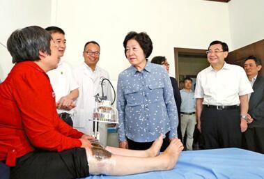 孙春兰在陕西调研地方病防治工作