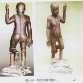 明代半跪式铜人
